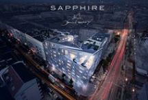SAPPHIRE BERLIN by Daniel Libeskind / Berlin-Mitte is getting a new jewel: an architectural landmark by the hand of the architect Daniel Libeskind. It is his first residential building in Europe, bearing his signature style with its typical corners and angles. A unique object, cut like a diamond, is being created here - sparkling, fascinating and as rare as it is desirable. Be part of it, as SAPPHIRE changes Berlin.