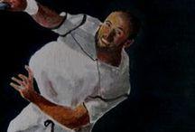 """Andre Agassi """"Detalles"""" / Detalles a la pintura Original. Ver tablero originales."""