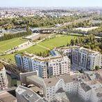 WOHNPANORAMA / Das WOHNPANORAMA ermöglicht Wohnen in erster Parkreihe am Gleisdreieck Park in Berlin