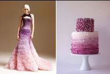 """Ombre Style Weddings / Ideas for your dreamed Wedding using the trendy """"Ombre Style""""."""