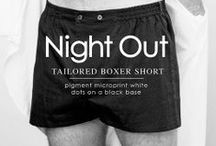 NIGHT OUT. TAILORED BOXER SHORT / Night Out | The Perfect Son. The world's only Black Tie boxer shorts is the result of a production process that adapts to the twenty first Century the excellence and traditions of classic shirt making.  The best European textiles in the hands of the best craftsmen of Barcelona. Carefully ironed, folded, scented and packed to be the finest of gifts. A serial number that makes each piece unique.