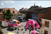 Romanian cities in pink / Avon Romania walks and events, part of the Breast Cancer Crusade.