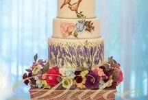 Hand-painted wedding cake * Dulce by Paula / hand-painted wedding cake