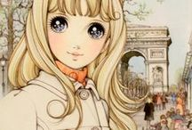 Girls Artwork / Drawings, Illustrations, Anime Style, Kawaii & Lolita Style - nothing explicit