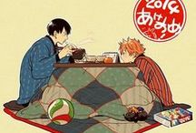 Under the Kotatsu / Cozy Kotatsu Illustrations - There is always so much happening in these pictures.