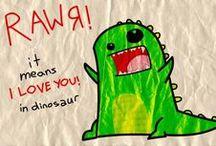 RAWR / Kawaii dragons, dinosaurs and Godzilla / Gojira