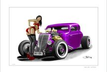 Pinup and hotrod