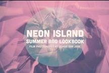 Neon Island Bags - SUMMER 2013 Lookbook / Summer Bag 2013 Lookbook shot in 35mm film  by Denise San Jose  http://hedonissy.tumblr.com/