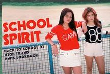 SCHOOL SPIRIT - Back to School '13 Lookbook / Too cool for school?  Then hang loose in these lightweight knits that were just born to chill.  Whether you're a geek, jock or one of the plastics,  these knits will keep you perfectly cool on a sunny day and cozy on a rainy afternoon.  http://neonislandclothing.com/lookbooks.php   Film Photography by: Denise San Jose http://hedonissy.tumblr.com/ Modeled by: Gabs Gibbs & Paula Yap