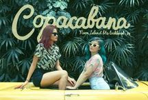 Copacabana - BTS '14 Lookbook / We're giving you a taste of our tropical fruit punch.  Take a bite of our fresh, fun and fruity new prints and patterns!   http://neonislandclothing.com/lookbooks.php  Photography by: Chi Gibbs & Aira Medina Modeled by: Gabs Gibbs and Pau Yap