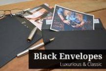 Black Envelopes / Black envelopes are an elegant and stylish alternative to white envelopes.