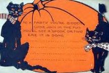 Vintage Halloween Cats / Vintage Halloween cat collectibles and imagery