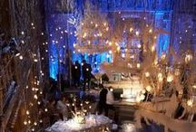 Wintry Wedding Inspiration / A flurry of frozen details to entertain in the colder weather - make the icy weather work for you with some incredibly romantic wedding ideas.