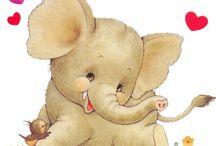Pinturas / Elefantes / by Eida Cruz