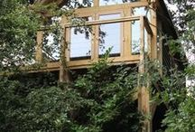 Case Study: Tree House / A tree house worthy of the name. Windows and door manufactured by Majestic Window Designs! http://www.mwdtradeframes.co.uk/