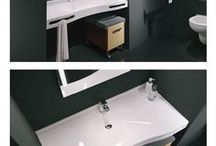 Wheelchair accessible bathrooms for home, hospitals or healthcare centers / Wheelchair accessible bathrooms for home or healthcare centers. Wheelchair accessible sinks are designed to use without vanity and with enough leg room under the surface.