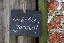 """Creating paradise in a garden / """"You are nowhere nearer to God than in a garden."""" - my mother"""