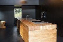 Wooden kitchen islands