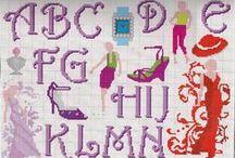 Alfabeti a punto croce e non