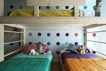 Habitaciones para dos o más / Ideas de habitaciones compartidas, para la misma edad o diferentes edades.