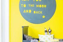 Habitaciones en amarillo / Habitaciones infantiles en amarillo. Detalles e ideas.
