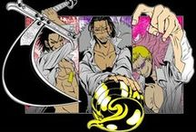 ❥ Hot Shichibukai / ONE PIECE - Donquixote Doflamingo, Sir Crocodile &' Dulacre Mihawk