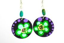 Hand-Painted Earrings / Wisps of Whimsy's Hand-Painted Earrings