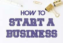 Starting a Business / Small business guide and tips for new entrepreneurs. Includes business ideas for women.