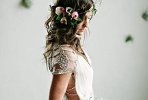 Bohemian Luxe / Add a touch of Bohemian luxe to your wedding and browse our inspirational board featuring our delicately adorned bridal accessories that evoke a romantic collaboration of whimsical styles.