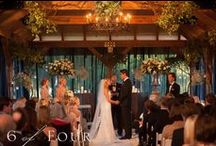 Brittany + Baxter 10.20.12 / The Polo Pavilion was piped and draped in sheer, black drapes. This was the stunning wedding of the owners daughter, Brittany Merrill. The reception took place at Legacy. Photos by 6 of Four Photography, Caterer: Proof of the Pudding