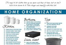 Organise & De-clutter the home / Clever hints on keeping your home & life organised & clutter free