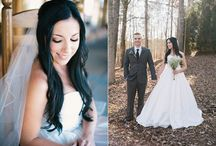 """Rustic Chic Wedding Shoot /  Simply Sarah Photography. Sarah tells us, """"The ideas for this shoot came from my love of rustic-chic weddings. I love the contrast of a gorgeous gown out in the woods against the natural elements. I chose Foxhall as our venue because of it's beautiful gentle rolling landscape and the pretty barn that created the perfect backdrop for our session. All in all I think the images captured really showcase exactly what it is that our Southern Brides can't get enough of!"""" What do you think?"""