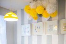Honeycombs + pompons ! / Inspirations pour tout égayer avec pompons et honeycombs!