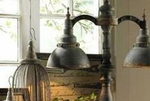 ~ Lamps ~ / Brocante ~ Industrial ~ Wheatered