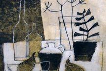 Glass,bottle,bottle,glass / Arrangements- compositions for still life
