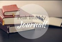 Journal Obsessed / Journaling is one of my favorite things and I've learned so much about myself and God because of it. I wrote a blog post about 7 ways journaling can help you grow if you want to check it out =] Here is the link:  http://joypedrow.wordpress.com/2014/06/10/why-journal/