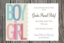 gender reveal party / Boy or Girl, Blue or Pink, Beau or Bow.