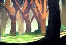 in-szene / scenery · background · layout