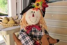 Fall Scarecrows / Fall Scarecrows make great outdoor decorations. From scary to funny, they are clever garden decor.