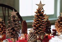 Christmas Table Top Decorations / Creating lovely tables for the holidays.  Gather family and friends for festive holiday meals.