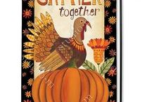 Thanksgiving Flags / Outdoor Thanksgiving decorative flags add eye-catching color to your garden to welcome friends and family.