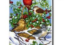 Artist Jane Maday / Jane Maday describes her art as idealized realism, with lovely birds, flowers and animals.  Exceptional artistic detail and vibrant colors.
