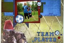 Scrapbooking:  soccer/sports layouts
