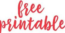 Printables / Free printables for every occassion - party and holiday ideas