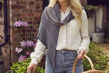 Farmer's Market / Comfy, casual knits for an early autumn afternoon at the market. Think beyond the obvious market bag to loose-fitting cardigans, boho scarves, slouchy hats and more.