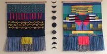 weaving / wall art rugs and other stuff featuring weaving techniques.