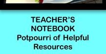 Teacher's Notebook Potpourri / This board is filled with resources created by the teachers on Teacher'sNotebook.com. You will find all subjects and all grade levels featured here. Take your pick!