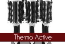 Thermo Active - Olivia Garden / The Olivia Garden Pro Thermal hair brushes are the first completely vented and 100% boar bristle ionic thermal round brush. Founded in 1968, #OliviaGarden has a long-standing, family history of designing and manufacturing high quality beauty tools engineered to exceed hairdresser and consumer needs. Find the right brush for your hair at OliviaGarden.com #BeautyTools #ThermoActive