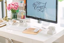 Work Space Ideas / Inspiration for home office, craft room, sewing room, workspace and desk area.