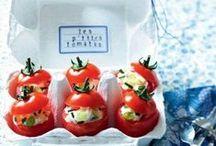 APERO DINATOIRE / Des idées de recettes et des inspirations pour l'apéritif : cakes, sauces, beignets, légumes, verrines,...